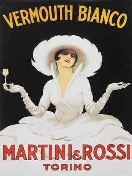 Martini & Rossi Vermouth Vintage Metal Sign