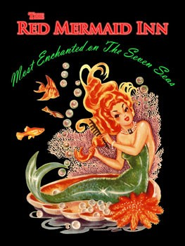 Red Mermaid Inn Metal Sign