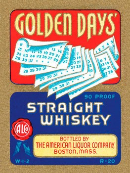 Golden Days Straight Whiskey Vintage Metal Sign