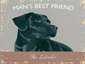 The Labrador Vintage Metal Sign
