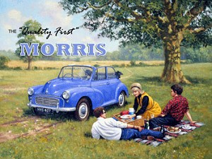 Morris Minor Vintage Metal Sign