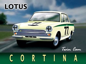 Lotus Cortina Vintage Metal Sign
