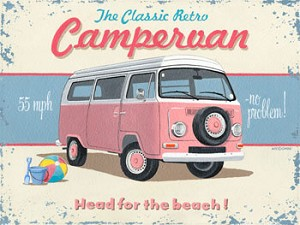 Classic Campervan Vintage Metal Sign