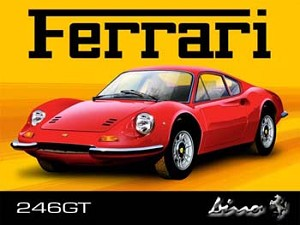 Ferrari 246GT Vintage Tin Sign