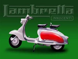 Lambretta Innocenti Scooter Vintage Tin Sign
