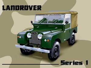 Land Rover Series 1 Vintage Tin Sign