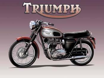 Triumph Motorcycle Vintage Tin Sign