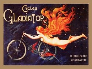 Cycles Gladiator Vintage Tin Sign