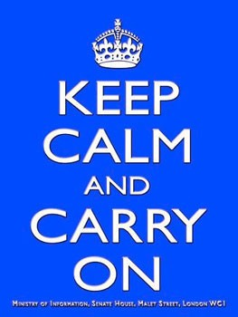Keep Calm and Carry On Blue Metal Sign