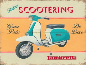 Lambretta Scootering Vintage Metal Sign