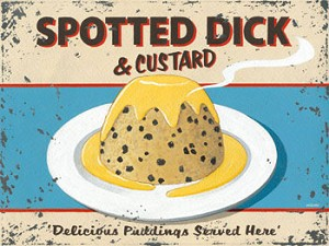 Spotted Dick Pudding Vintage Metal Sign