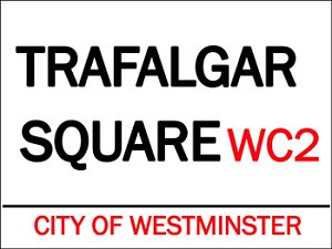 Trafalger Square Vintage Metal Sign