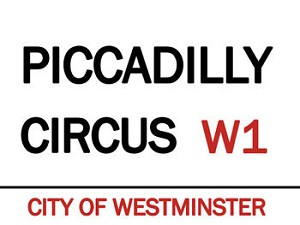 Piccadilly CircusVintage Metal Sign