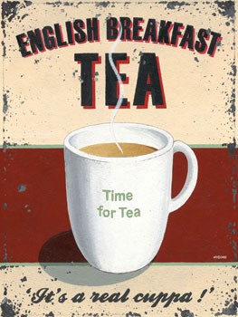 English Breakfast Tea Vintage Metal Sign