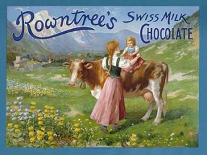 Rowntree's Swiss Milk Chocolate Vintage Tin Sign