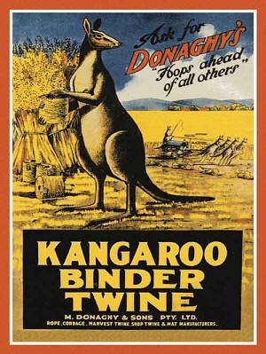Kangaroo Binder Twine Vintage Metal Sign