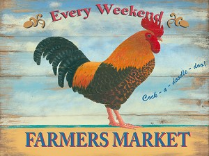 Farmers Market Vintage Metal Sign