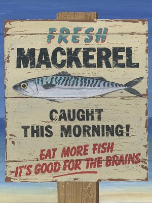 Fresh Mackerel Vintage Metal Sign