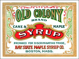 Old Colony Syrup Vintage Metal Sign
