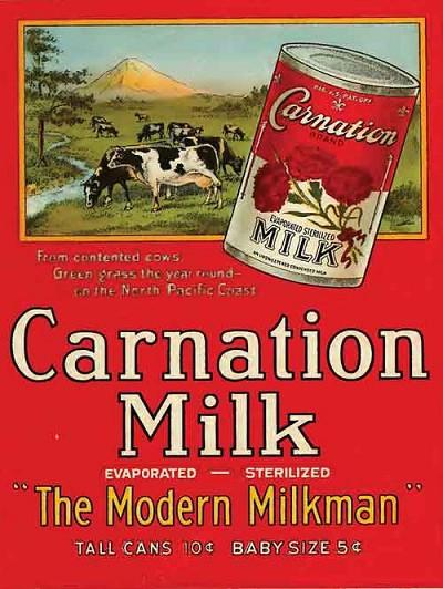 Carnation Milk Vintage Metal Sign