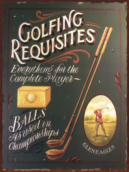 Golfing Requisites Vintage Metal Sign