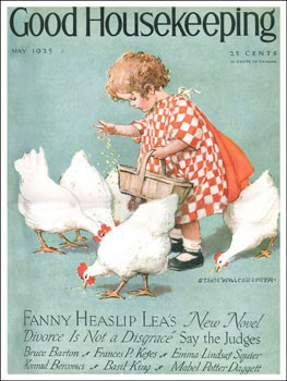 Good Housekeeping Cover 1925 Vintage Metal Sign