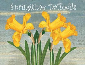Daffodils Vintage Metal Sign