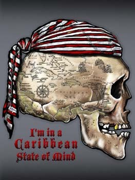 I'm in a Caribbean State of Mind Tin Sign