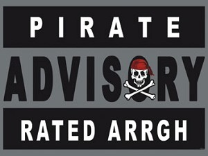 Pirate Advisory Rated ARRGH Tin Sign