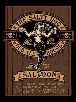 The Salty Dog Old Ale House Saloon Tin Sign