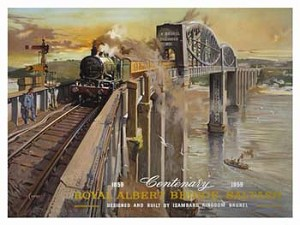 Royal Albert Bridge Saltash Vintage Tin Sign