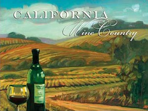 California Wine Country Metal Sign