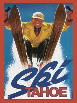 Ski Tahoe Vintage Tin Sign