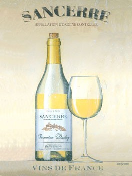 Sancerre Vin Du France Vintage Metal Sign