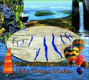 Finger Lakes New York Tapestry