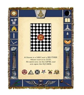 Masonic Symbols Tapestry