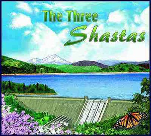The Three Shastas California Tapestry