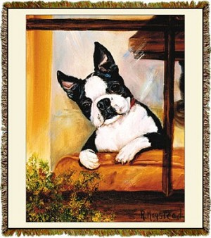Boston Terrier Ruth Maystead © Tapestry