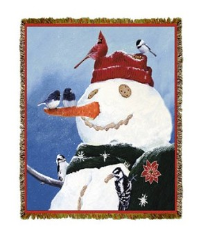 Holiday Snowmans Treat Tapestry