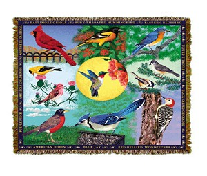 Backyard Birds Tapestry