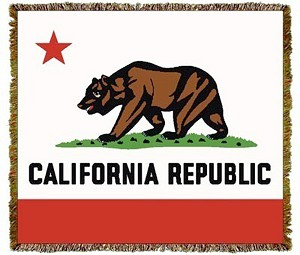 California State Bear Flag Tapestry