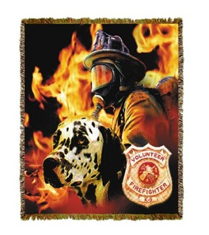 Firefighter Dalmation Tapestry