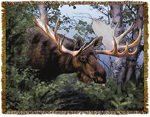 Canadian Moose Tapestry