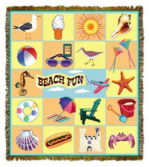 Beach Fun Tapestry