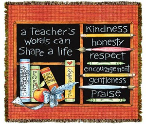 A Teachers Words Tapestry