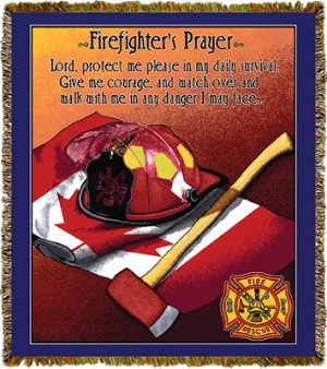 Firefighter Prayer Canadian Tapestry