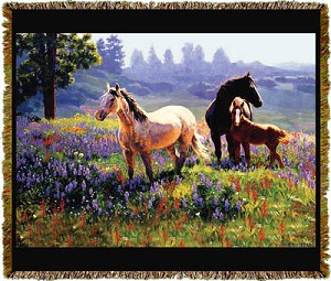 Horse Season Of Contentment Tapestry