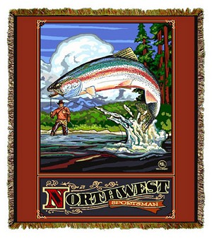 Northwest Sportsman Artist Tapestry
