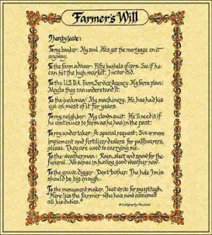 The Farmer'S Will Coverlet © Ron Knox Tapestry