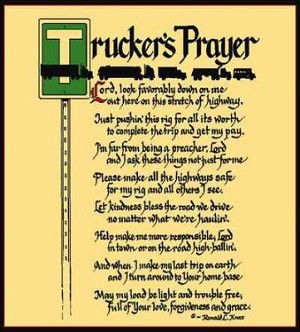 Trucker'S Prayer Coverlet ©Ron Knox Tapestry
